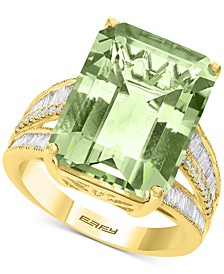 EFFY® Green Quartz (15-1/2 ct. t.w.) & Diamond (3/8 ct. t.w.) in 14k Yellow Gold (Also Available in Citrine, Pink Amethyst, and Blue Topaz)