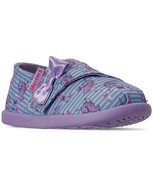 Skechers Toddler Girls' Lil' BOBS Solstice 2.0 - Sea Dreams Casual Sneakers from Finish Line