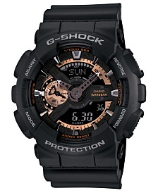 G-Shock Men's Analog Digital Black Resin Strap Watch 51x55mm GA110RG-1A