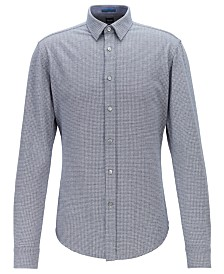 BOSS Men's Ronni_53 Slim-Fit Single-Jersey Cotton Shirt