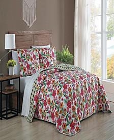 Poppy 3-pc King Reversible Quilt Set