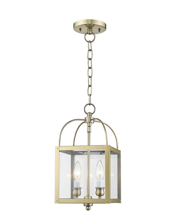 Livex - Milford 2-Light Convertible Mini Pendant/Ceiling Mount