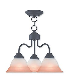 CLOSEOUT!   Wynnewood 3-Light Convertible Dinette Chandelier/Ceiling Mount
