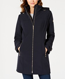 Michael Michael Kors Water Resistant Hooded Raincoat, Created for Macy's