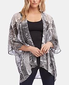 Drape-Front Kimono
