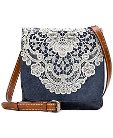 Patricia Nash Granada Denim Crochet Crossbody