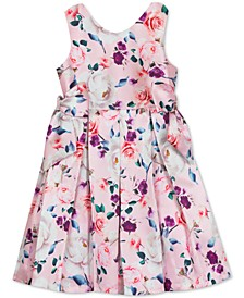 Little Girls Floral-Print Pleated Dress