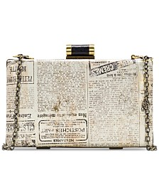 Patricia Nash Alora Newspaper Print Clutch