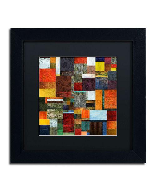 "Trademark Global Michelle Calkins 'Brocade Color Collage 2' Matted Framed Art - 11"" x 11"""