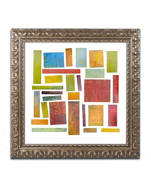 "Trademark Global Michelle Calkins 'Building Blocks One' Ornate Framed Art - 16"" x 16"""
