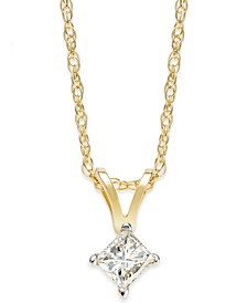 Princess-Cut Diamond Pendant Necklace in 10k Gold (1/5 ct. t.w.)