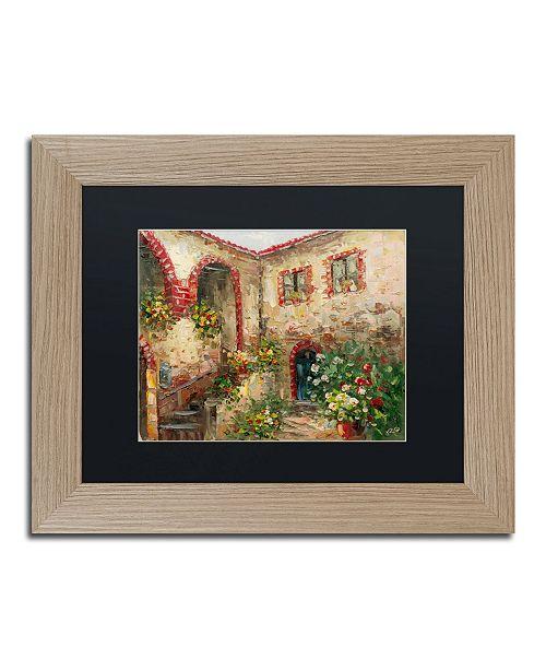 "Trademark Global Rio 'Tuscany Courtyard' Matted Framed Art - 11"" x 14"""