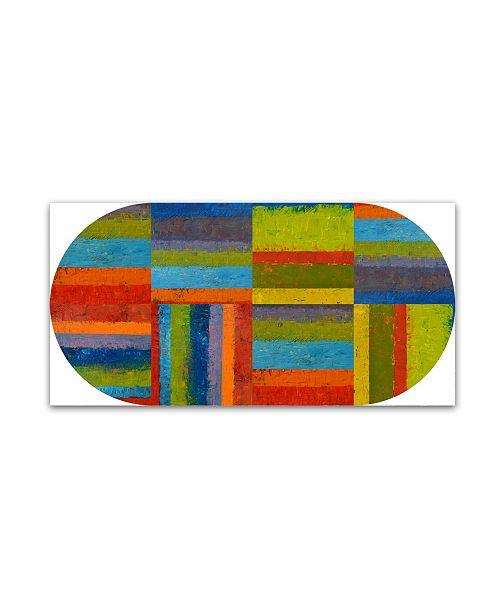 """Trademark Global Michelle Calkins 'Big Pill' Canvas Art - 10"""" x 19"""""""