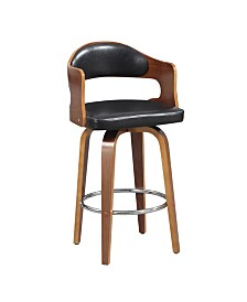 AC Pacific Counter Seat Height Swivel Barstool