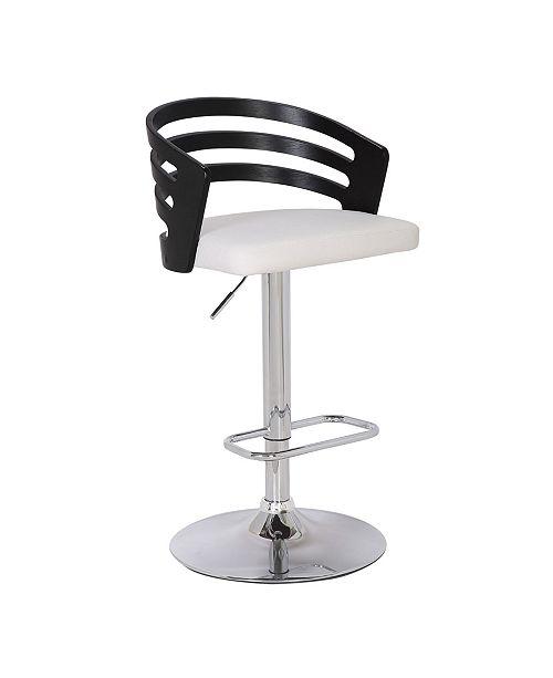 Surprising Modern Wood Back Adjustable Swivel Bar Stool With Cushion Lamtechconsult Wood Chair Design Ideas Lamtechconsultcom