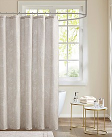 Madison Park Emory Cotton Printed Shower Curtain