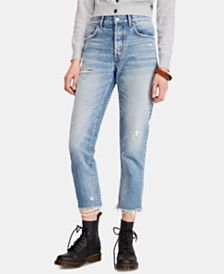 Free People Good Times Relaxed Cotton Ankle Skinny Jeans