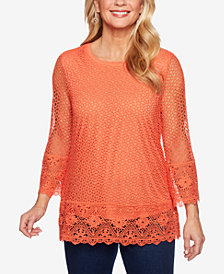 Alfred Dunner Lake Tahoe Lace Top