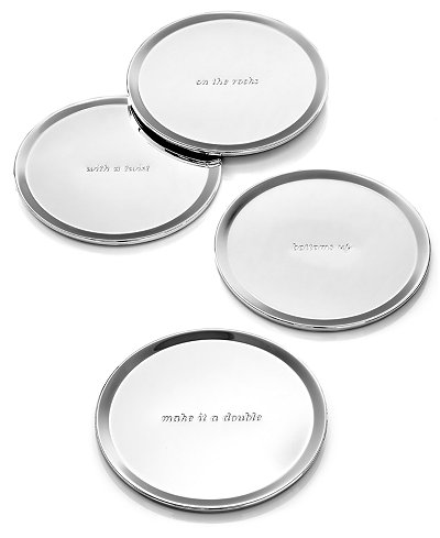 kate spade new york Set of 4 Silver Street Coasters