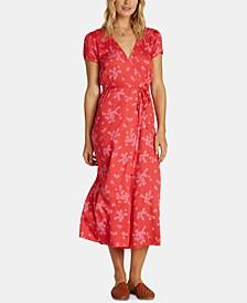Juniors' Printed Midi Dress