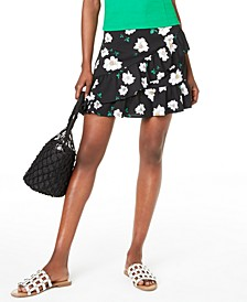 Ruffled Floral-Print Mini Skirt, Created for Macy's
