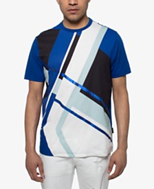 Sean John Men's Abstract Geometric T-Shirt