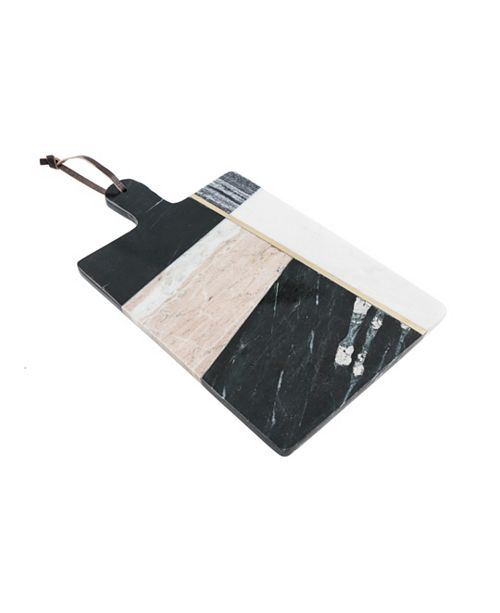 Thirstystone Geometric Color Block Marble Serving Board