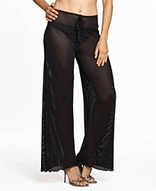Jordan Taylor Gofret Plus Size Pull on Pant Cover Up