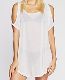 Jordan Taylor Gofret Cold Shoulder Tunic Cover Up