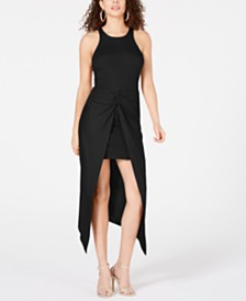 Material Girl Juniors' Rib-Knit Open-Front Overskirt Dress, Created for Macy's