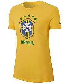 Nike Women's Brazil National Team Evergreen Crest T-Shirt