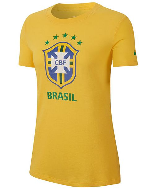 Women's Brazil National Team Evergreen Crest T Shirt