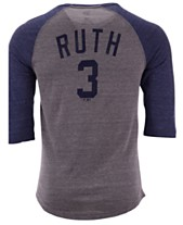 5c290fb80 Majestic Men's Babe Ruth New York Yankees Coop Batter Up Raglan T-Shirt