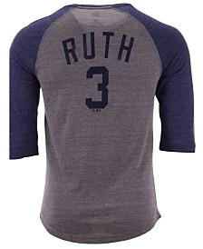 Majestic Men's Babe Ruth New York Yankees Coop Batter Up Raglan T-Shirt