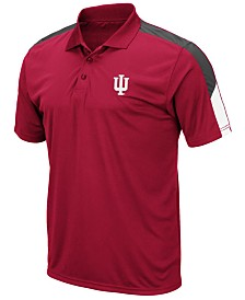 Colosseum Men's Indiana Hoosiers Color Block Polo
