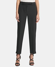 DKNY Slit-Cuff Slim-Fit Pants