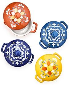 La Dolce Vita Collection Set of 4 Decorative Ceramic Cocottes, Created for Macy's