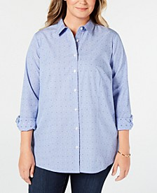 Plus Size Cotton Dress Shirt, Created for Macy's