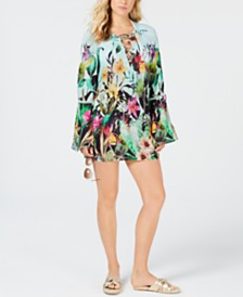 Nanette Lepore Bloomin' Botanical Tunic Cover-Up
