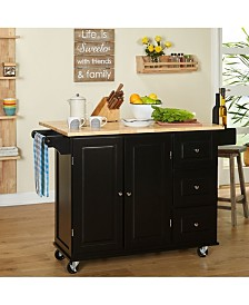 The Mezzanine Shoppe Sundance Cart Wood Top