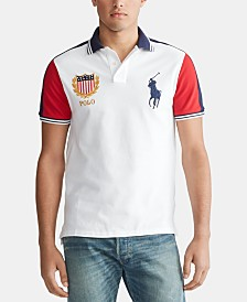 Polo Ralph Lauren Men's Custom Slim Fit Chariots Mesh Polo Shirt