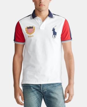 Custom Men's Slim Multi Chariots Mesh White Fit In Shirt Polo xCeodB