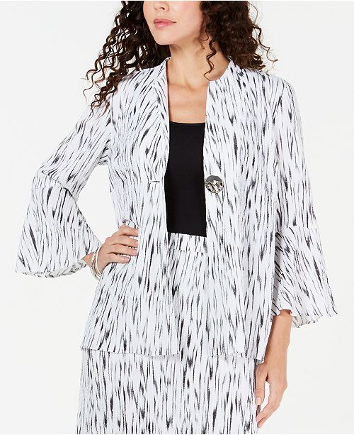 JM Collection Crinkle Texture Bell-Sleeve Jacket, Created for Macy's