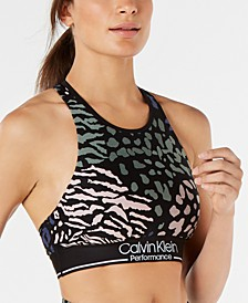 Printed Strappy Medium-Impact Sports Bra
