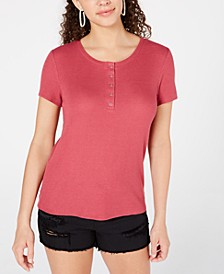 Juniors' Thermal Henley Top