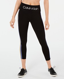 Calvin Klein Performance Wide-Stripe Ankle Leggings