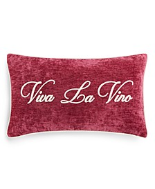 "Viva La Vino 14"" x 24"" Decorative Pillow"
