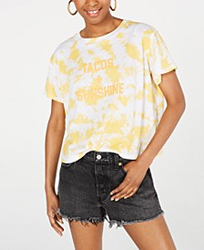 Juniors' Tacos & Sunshine Graphic T-Shirt