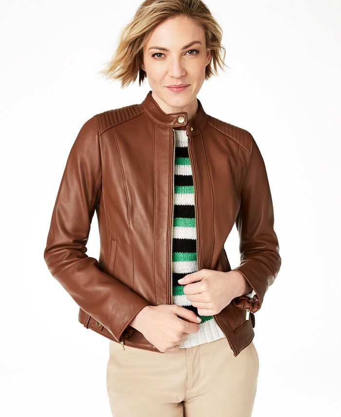 Cole Haan - Seamed Leather Jacket