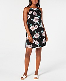 Juniors' City Shield Floral-Print Dress